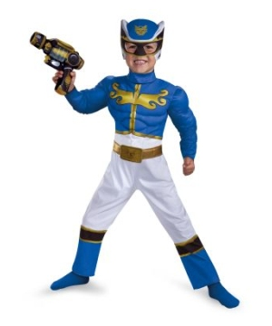Blue Ranger Megaforce Muscle Baby Costume