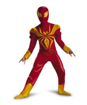 Ultimate Iron Spider Man Muscle Boys Costume