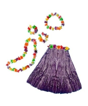 Aloha Purple Kit Adult Costume