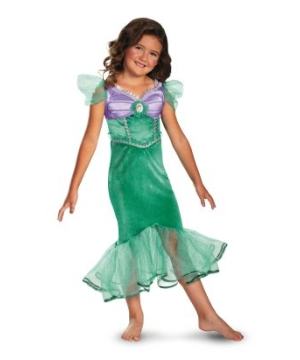 ariel sparkle disney girls costume