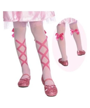 Ballerina Tights With Attached Bow