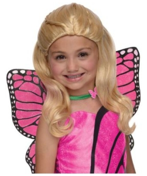 Barbie Mariposa Kids Wig