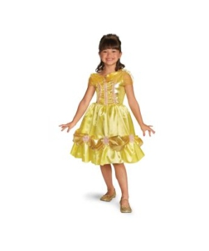 Belle Sparkle Classic Disney Girls Costume