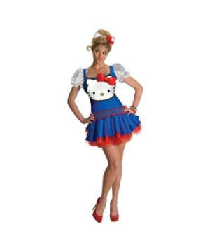 Blue Hello Kitty Adult Costume