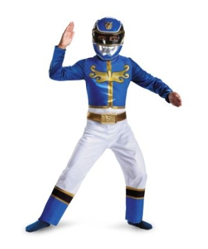 Blue Power Ranger Megaforce Classic Boys Costume