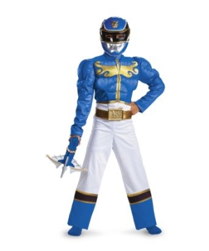 Blue Power Ranger Megaforce Muscle Boys Costume