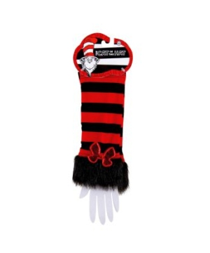 Red and Black Cat in the Hat Fuzzy Adult Glovettes