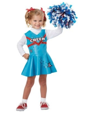 Pom Pom Cheerleader Girls Costume
