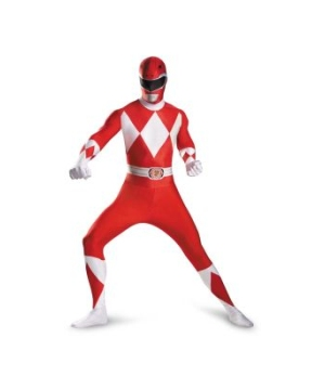 Red Power Ranger Men Costume