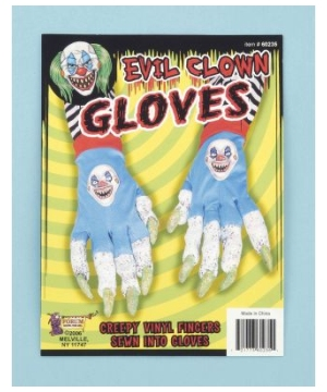 Evil Clown Adult Gloves