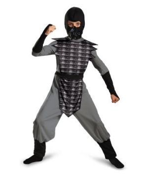 Evil Ninja Grey Kids Costume