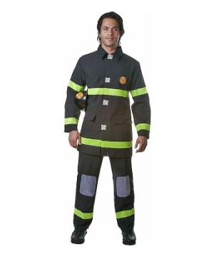 Fire Fighter Adult Costume Black