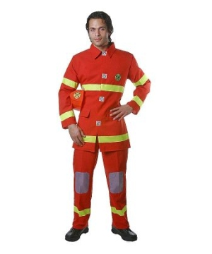 Fire Fighter Adult Costume Red
