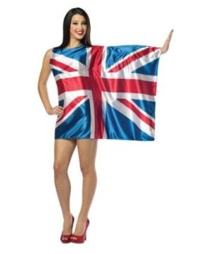 Flag Dress Uk Women's Costume