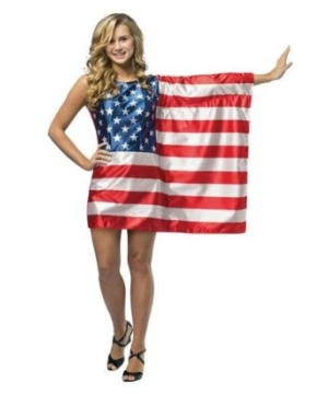 Flag Dress Usa Teen Costume