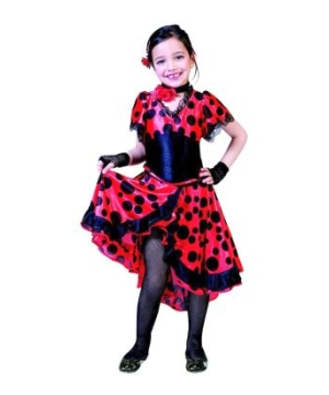 Flama Dancer Girls Costume