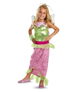 Flora Mermaid Classic Girls Costume