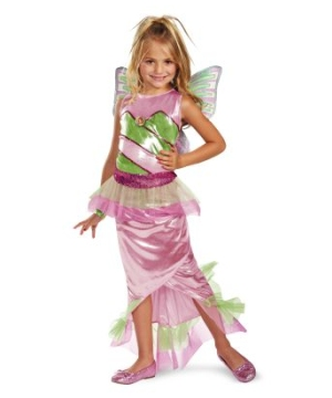 Flora Mermaid Kids Costume deluxe