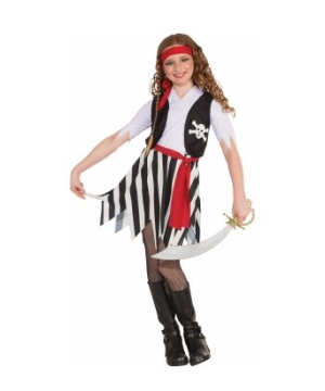 Economy Buccaneer Girls Costume