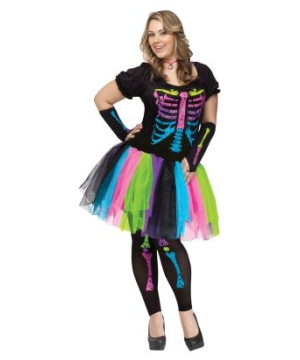 Funky Punk Bones plus size Adult Costume