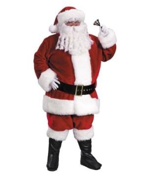 Santa Suit Costume Premium Plush Red