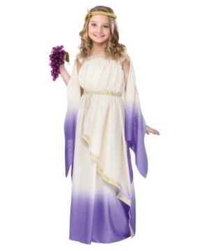 Goddess Cream Purple Ombre Kids Costume