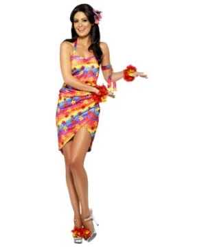 Hawaiian Party Girl Women Costume