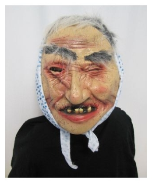 Flower Old Lady Adult Mask