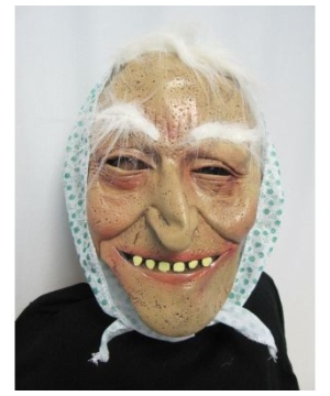 Flower Print Old Lady Adult Mask
