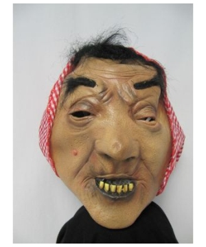 Red Gingham Old Lady Adult Mask