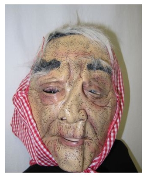 Red Old Lady Adult Mask