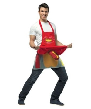 Hot Dog Vendor Apron Adult Costume