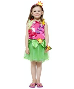 Hula Hula Girl Kids Costume