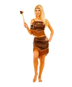 Brown Indian Princess Women Costume