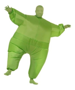 Inflatable Adult Costume Green