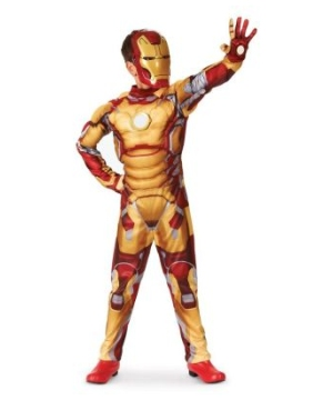 Iron Man 3 Mark 42 Muscle Light up Boys Costume