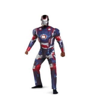 Iron Man 3 Patriot plus size Adult Costume deluxe