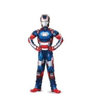 Iron Man 3 Patriot Muscle/boys Costume