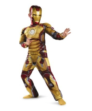 Iron Man Mark 42 Muscle Boys Costume