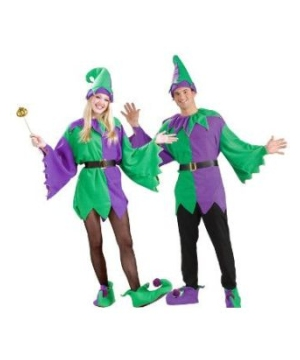 Jolly Mardi Gras Jester Adult Costume