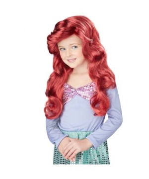little mermaid kids wig