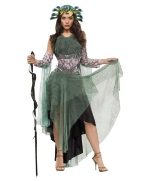 Green Medusa Women Costume
