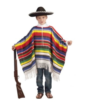 Mexican Poncho Kids Costume