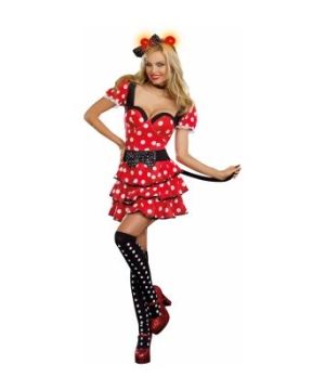 Miss Minnie Mouse Adult Costume deluxe