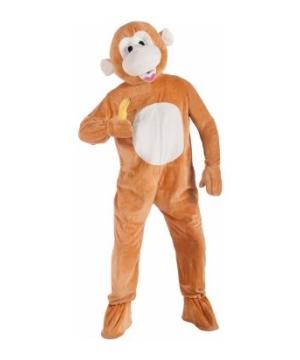 Monkey Mascot Adult Costume
