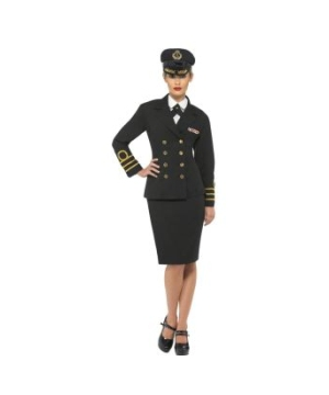 Navy Officer plus Adult Costume