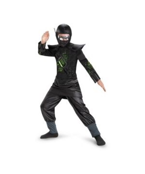 Core Black Glow in the Dark Boys Ninja Costume