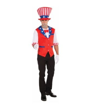 Patriotic Hat and Shirt Adult Costume