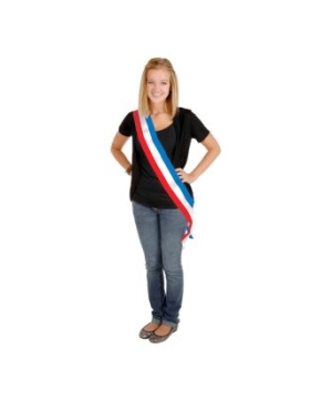 Patriotic Satin Adult Sash