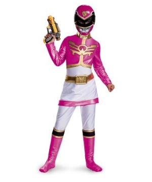 Pink Power Ranger Megaforce Kids Costume deluxe